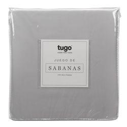 Juego-De-Sabanas-Twin-100Gr-100--Microfibra-Gris