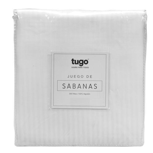 Juego-De-Sabanas-Queen-Stripe-300Hl-100--Algodon-Blanco
