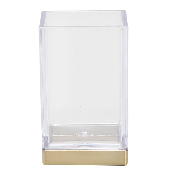 Vaso-Baño-Clarity-6-6-10Cm-Vidrio-Plastico-Dorado-----------
