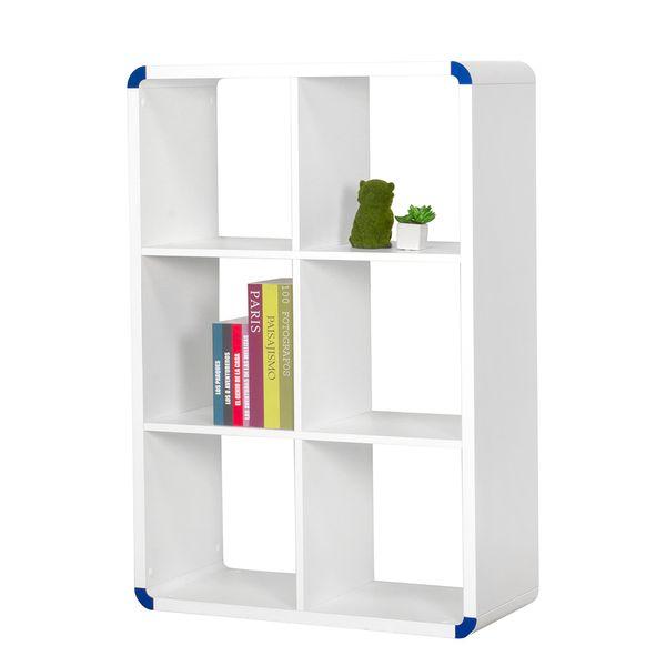 Biblioteca-Rush-6-Repisas-73-107-33-Highgloss-Blanco--------