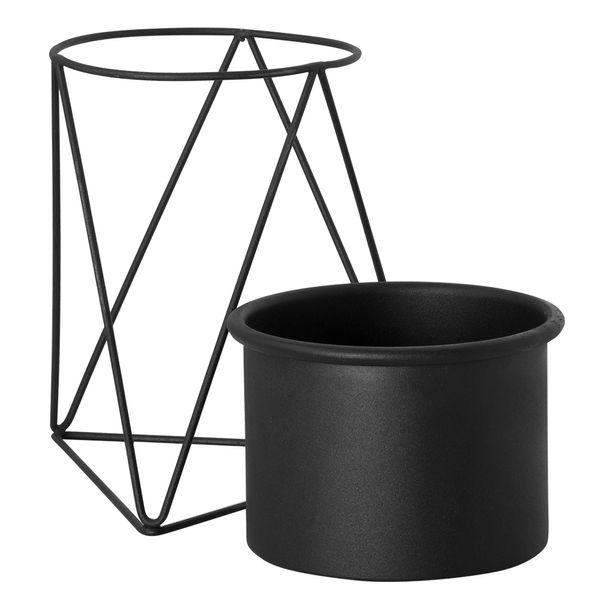Matera-Piramidal-10-15Cm-Metal-Negro-Base-Negra-------------