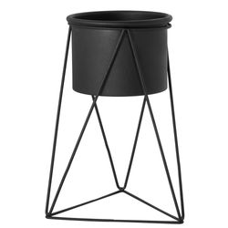 Matera-Piramidal-10-20Cm-Metal-Negro-Base-Negra-------------