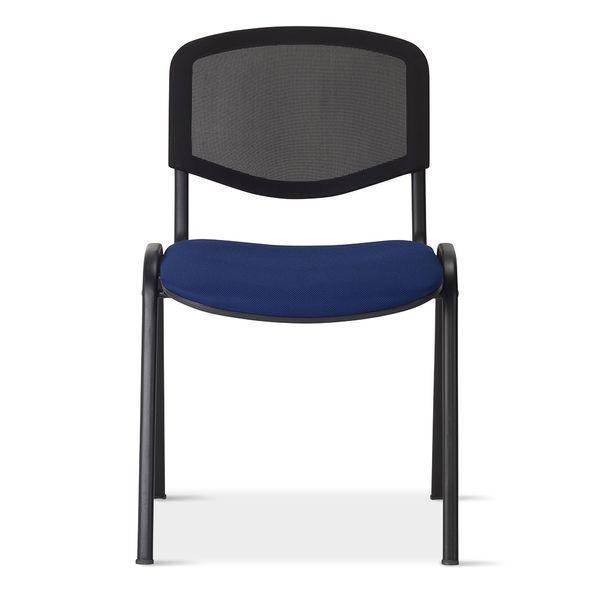 Silla-Isonet-Estructura-Negra-Tapizado-Azul-----------------