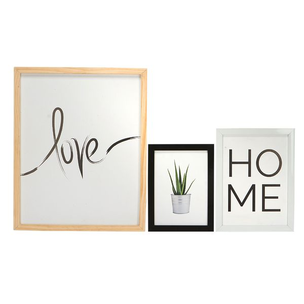 Set-3-Cuadros-Love-Ramo---Home-Madera-Varios----------------