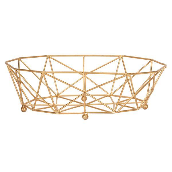 Canasta-Organizadora--Diamante-29-19-9Cm-Metal-Dorado-------