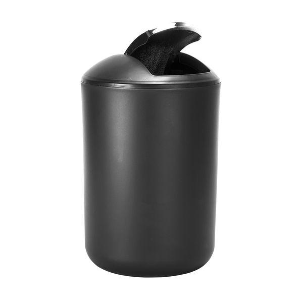 Papelera-Baño-6.5Lt-Brasil-19.5-19.5-31Cm-Plastico-Negro----