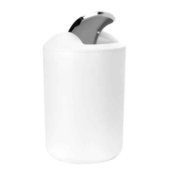Papelera-Baño-6.5Lt-Brasil-19.5-19.5-31Cm-Plastico-Blanco---
