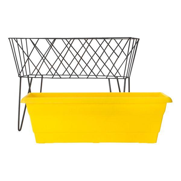 Matera-Rectangular-C18-Garden-50-50-38Cm-Plast-Amarillo-Negr