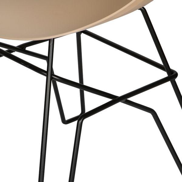 Silla-Auxiliar-Piure-Plastico-Beige-Patas-Metal-Negro-------