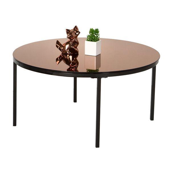 Mesa-De-Centro-Gina-Diam-80-40-Vidrio-Bronze-Metal-Negro