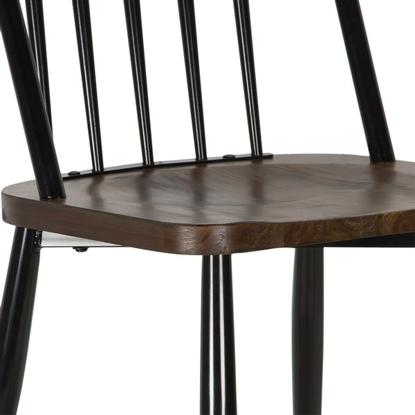 Sillas-De-Comedor-Antique-Metal-Negra-Madera----------------