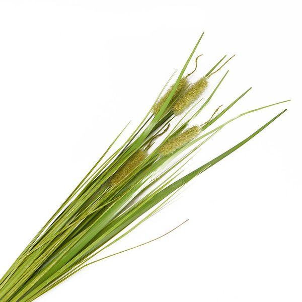 Flor-Artificial-Arbusto-Typha-70Cm-Plastico-Verde-----------