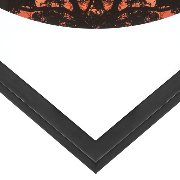 Cuadro-Fotografia-Caqueta-Tarde-Coral-Black-50-50Cm---------