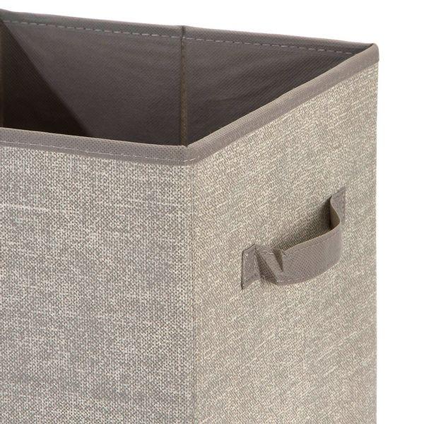 Set-2-Cajas-Aldo-27-27-28Cm-Tela-Plastico-Beige-------------