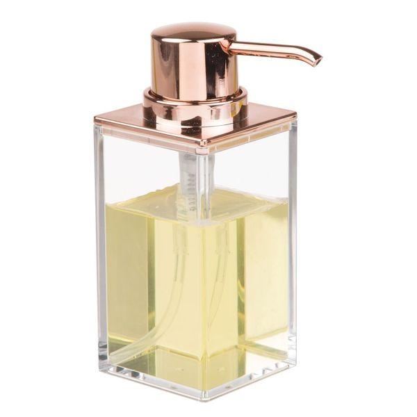 Dispensador-Jabon-Clarity-9-6-15Cm-Plastico-Cobre-----------