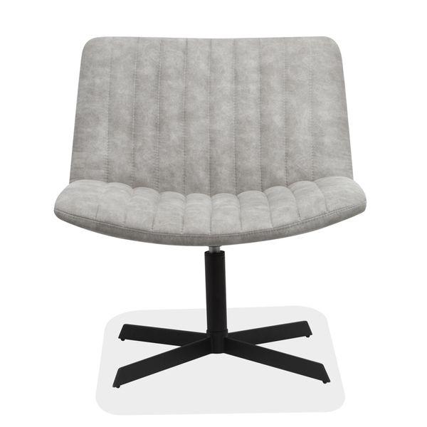 Poltrona-Lounge-Cuero-Sintetico-Cy2-Gris-Claro--------------
