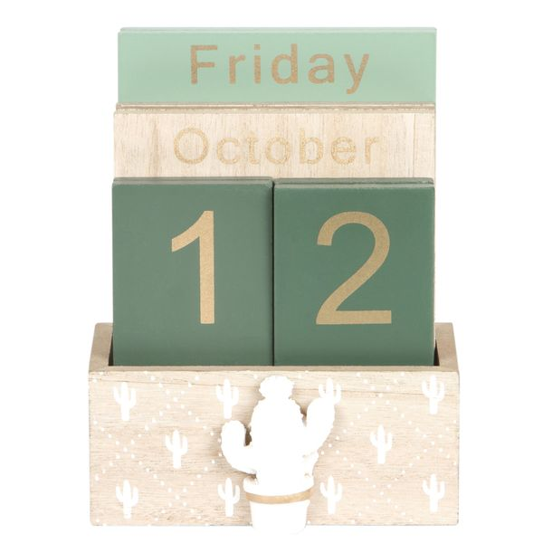 Calendario-Green-Woods-11-6-15Cm-Mdf-Nat-Verde--------------