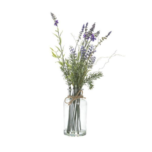 Planta-Artificial-Arreglo-Lavanda-40-Cm-Vidrio--------------