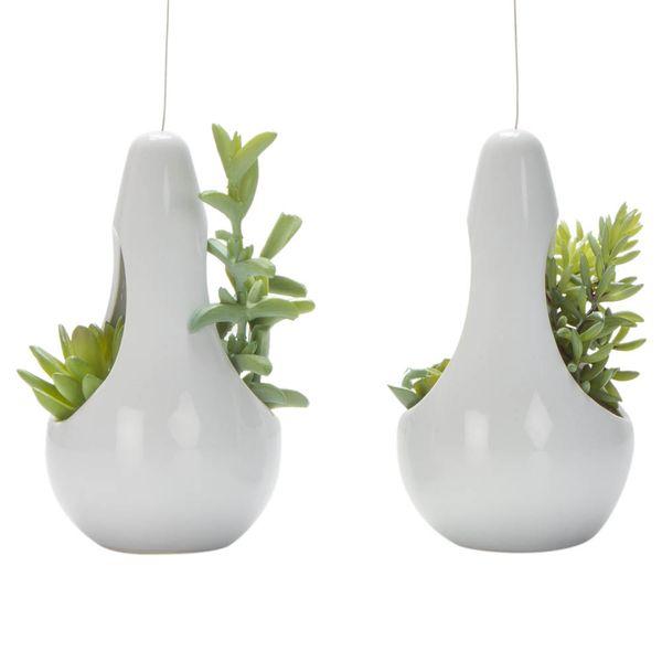 Planta-Colgante-Artificial-Suculenta-18Cm-Ceramica-Blanco---