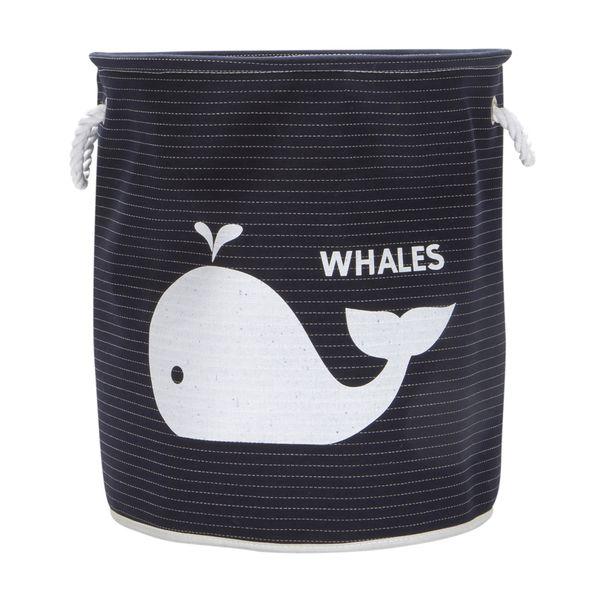 Bolsa-Cilindirca-Whales-40-40-45Cm-Poliester-Azul-----------
