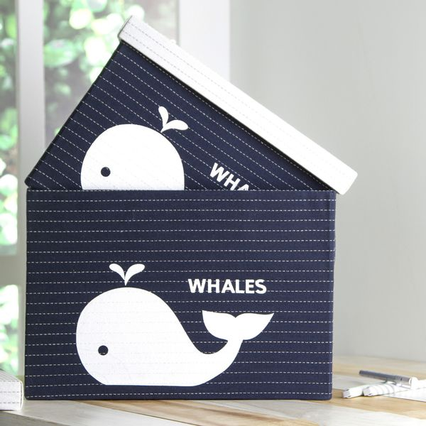 Caja-Whales-31-31-21Cm-Poliester-Azul-----------------------