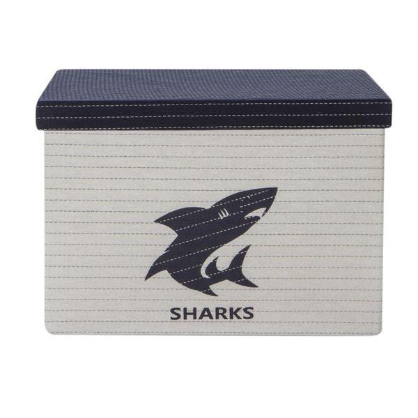 Caja-Sharkes-31-31-21Cm-Poliester-Blanco-Azul---------------
