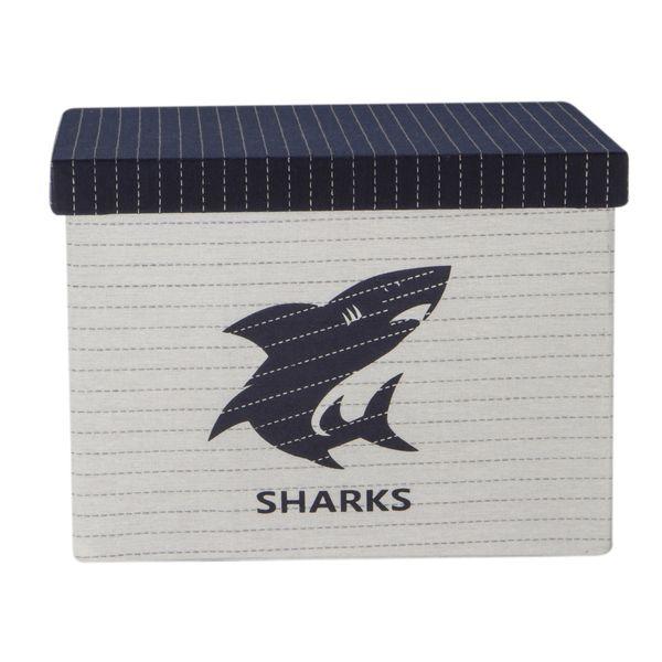 Caja-Pequeña-Sharkes-27-27-19Cm-Poliester-Blanco-Azul-------