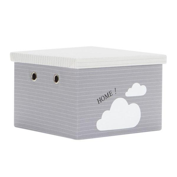 Caja-Clouds-31-31-21Cm-Poliester-Gris-----------------------