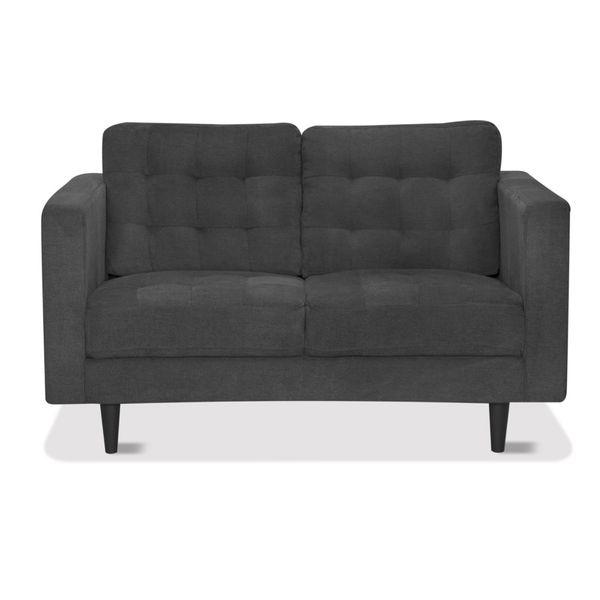 Sofa-2-Puestos-Cosmic-Tela-Gris-Oscuro----------------------