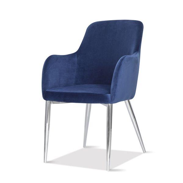 Silla-De-Comedor-Salon-Tela-Roma-Azul---Patas-Cromo---------
