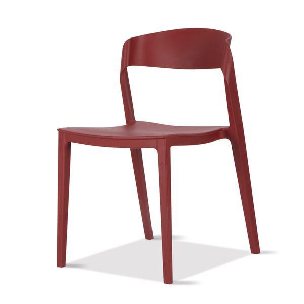 Silla-Auxiliar-Bilbao-Plastico-Rojo-------------------------