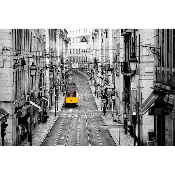 Cuadro-Yellow-Tram-80-120Cm-Vidrio--------------------------