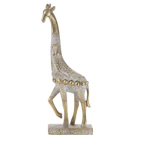 Figura-C19-Jirafa-Cairo-12.7-5.4-31Cm-Poliresina-Dorado-----