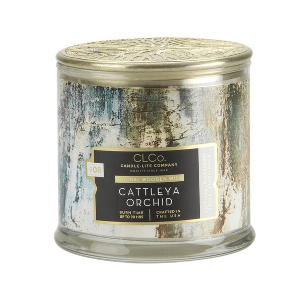 Vela-14-Oz-Candle-Lite-Tapa-Dorada-W-Cattleya-Orchid--------