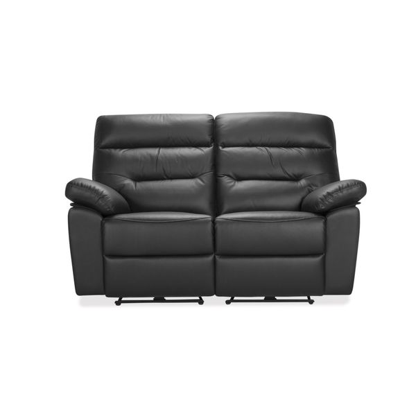 Sofa-2-Puestos-Recli-Elec-Kingstone-Cuero---Pvc-Negro-------