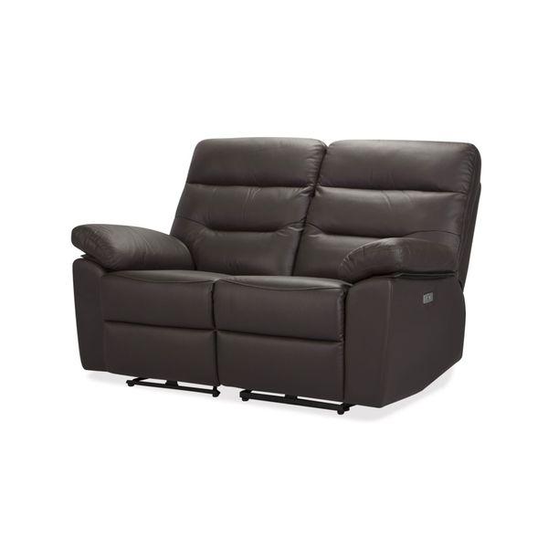 Sofa-2-Puestos-Recli-Elec-Kingstone-Cuero---Pvc-CafE-------