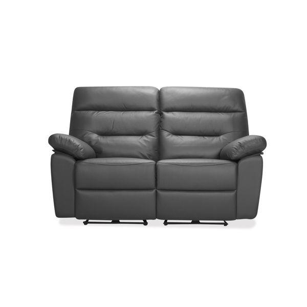 Sofa-2-Puestos-Recli-Elec-Kingstone-Cuero---Pvc-Gris--------