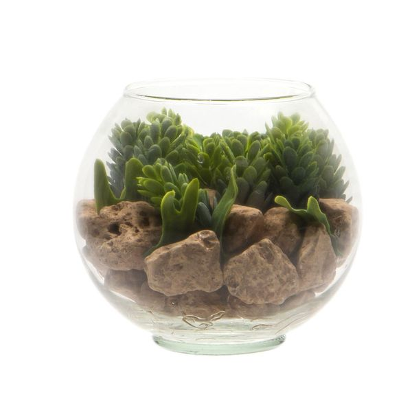 Planta-Artificial-Bonsai-Tropical-Mini-12-10Cm-Vidrio-------