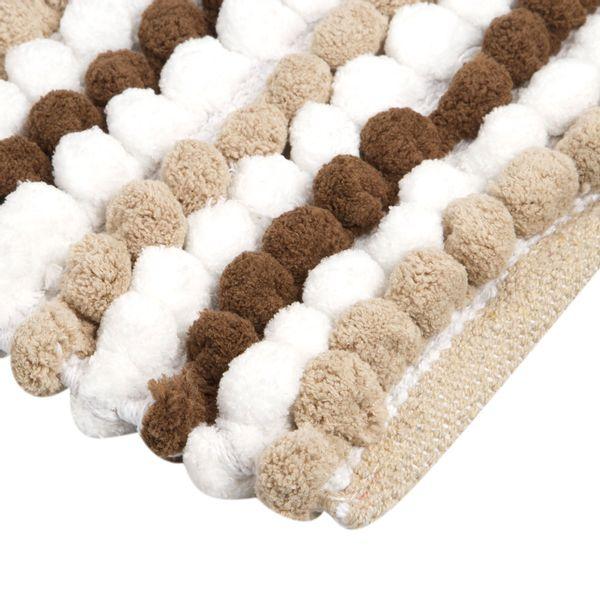Tapete-Baño-Cotton-Cubes-40-60Cm-Poliester-Arena-Gris-------