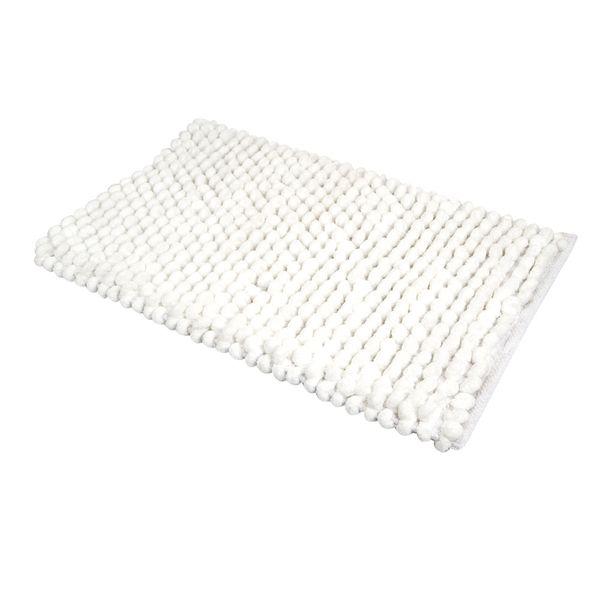 Tapete-Baño-Cotton-Cubes-40-60Cm-Poliester-Blanco-----------