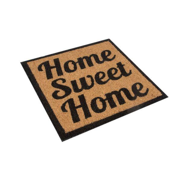 Tapete-Entrada-Home-Sweet-Home-50-50Cm-Fibra-Coco-Nat-Negro-