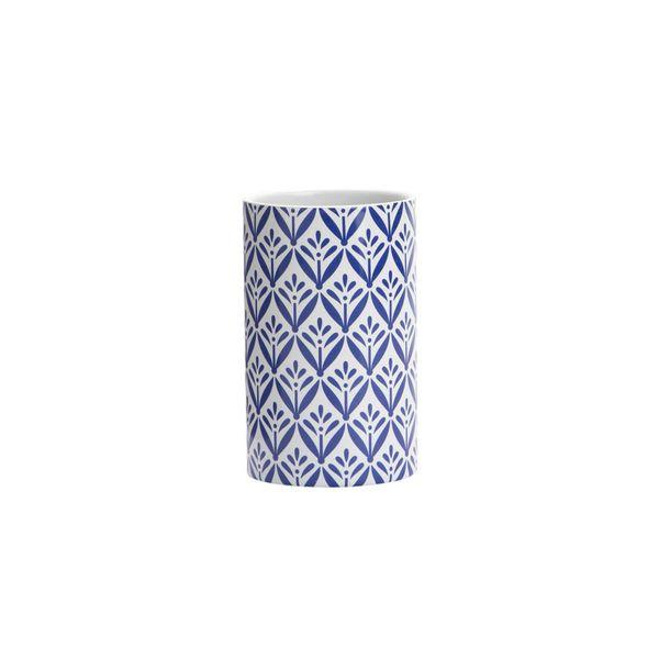 Vaso-Baño-Lorca-6.5-6.5-11Cm-Ceramica-Blanco-Azul-----------