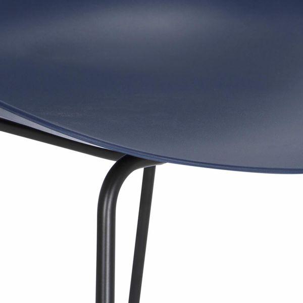 Butaco-Alto-Vivid-Plastico-Azul-Oscuro-Patas-Metal-Negro----