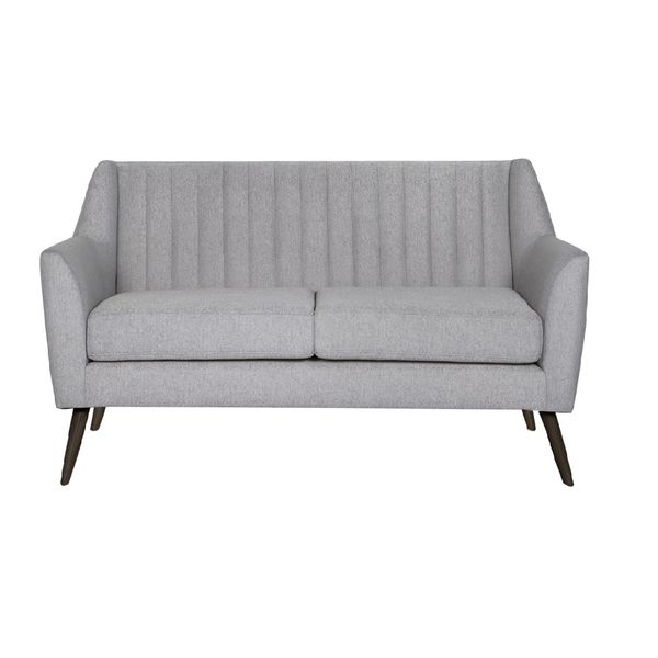 Sofa-2-Puestos-Lobrock-Tela-Varena-Gris-Claro-Patas-Nogal
