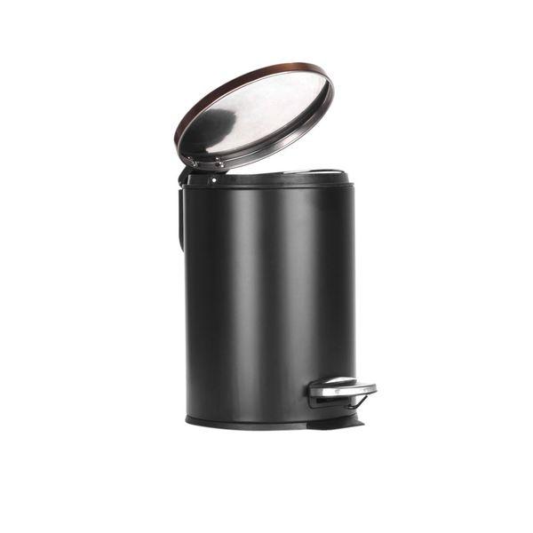 Papelera-Pedal-3Lt-17-25.5Cm-Metal-Plastico-Negro-Cobre-----
