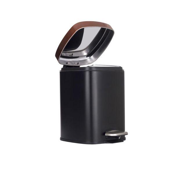 Papelera-Cuadrada-Pedal-6Lt-20-28Cm-Metal-Plast-Negro-Cobre-