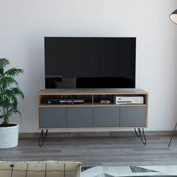 Carro-Tv-Vassel-60.6-123.5-38.6Cm-Lam-Miel-Plomo