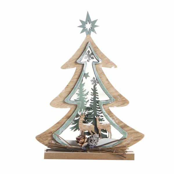 Navidad-C19-Arbol-Decorativo-Forest-15-20Cm-Madera-Nat-Verde