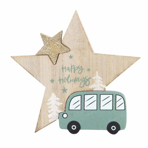 Navidad-C19-Estrella-Happy-Holidays-18-17Cm-Madera-Nat-Verde
