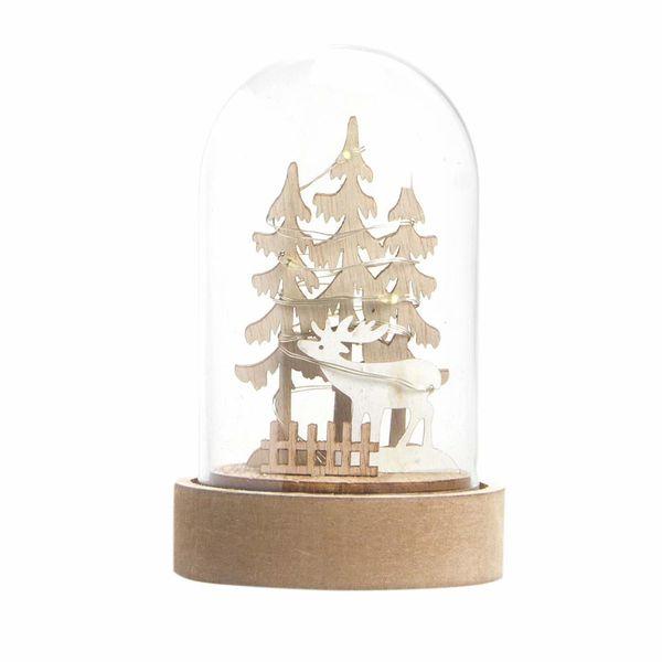 Navidad-C19-Snowglobe-Nordic-7.5-13Cm-Madera-Nat